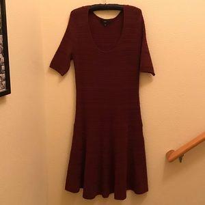Maroon Sweater Dress, L